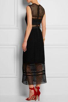 SELF-PORTRAIT Macramé lace midi dress_rear