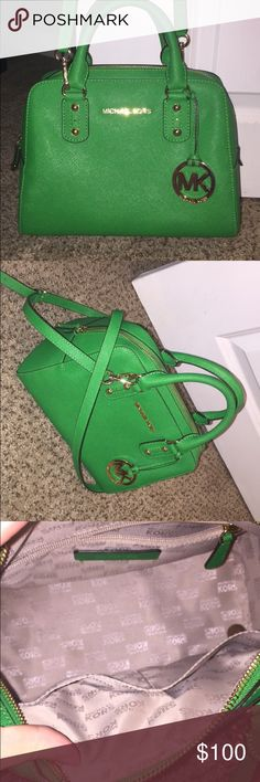 Green MK purse Brand NEW never used!! Michael Kors Bags Crossbody Bags