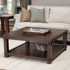 Have to have it. Belham Living Bartlett Square Coffee Table with Panels - $259.99 @hayneedle