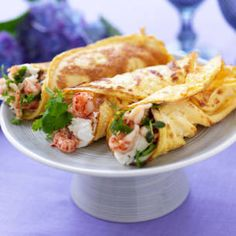 Caesar Pasta Salads, Clean Eating, Healthy Eating, Good Food, Yummy Food, Wraps, Swedish Recipes, I Want To Eat, Fish And Seafood