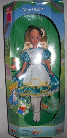 "Disney Exclusive Alice in Wonderland Movie Alice Doll 9"" inch Mattel RARE 1994   eBay"