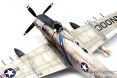 Tamiya scale model A1-H Skyraider by Vince Pedulla. #aircraft #military