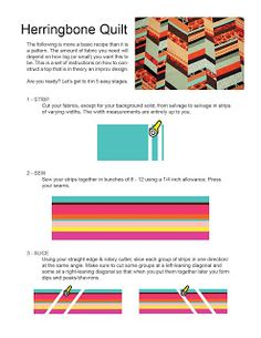 Herringbone Quilt how-to from Knotty Bits