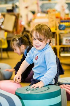 """Carolyn Wilkie, Head of Nursery, was very impressed by this tumbling furniture, """"The opportunities for play, exercise and learning are endless, and only limited by your imagination. They are so multi functional, and the children loved them!"""""""