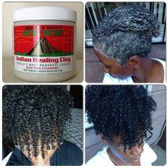 Bentonite Clay Mask Hair, Clay Hair Mask, Curly Hair Care, Curly Hair Styles, Natural Hair Styles, Natural Beauty, Hair Detox, Natural Hair Treatments, Indian Healing Clay