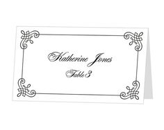 Image Result For Fall Place Card Templates  Placecard Templates