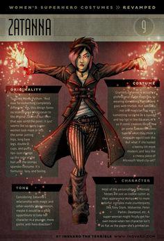 Zatanna - female superhero costumes given practical redesigns
