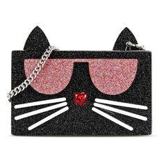 Karl Lagerfeld K/Kocktail Minaudiere ($165) ❤ liked on Polyvore featuring bags, handbags, clutches, black, rhinestone handbags purses, sparkly purses, handbags purses, evening clutches and karl lagerfeld handbags