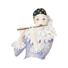 Pierrot ❤ liked on Polyvore featuring clown