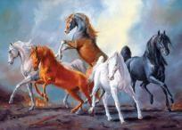ARABIAN HORSES CROSS STITCH PATTERN CHART