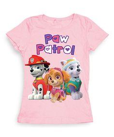 Love this Light Pink 'PAW Patrol' Tee - Girls by PAW Patrol on #zulily! #zulilyfinds