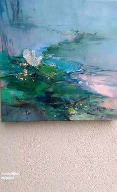Waterlilies - @magdalena.morey.artist Artisan Mixer, Water Lilies, Highlights, Waves, Abstract, Artist, Artwork, Painting, Outdoor