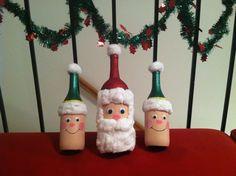 Santa and elves--Wine Bottle DIY Craft