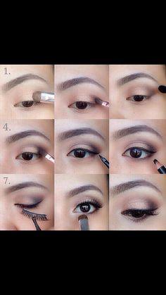 Easy step by step eye makeup #easy#DIY#diy#eye#makeup