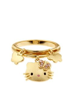 Hello Kitty Charm Ring by Blowout on @HauteLook