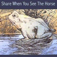 See the toad! Now, Turn sideways to see the horse!!