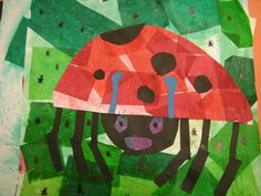 Grumpy Lady Bug art from Artolazzi blog - read with Eric Carle's book.