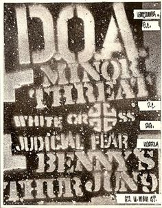 There is alot of similarities between the font used in this flyer including size and weight making it hard to find the clear hierarchy. the doa can be argued as the headline but the others are competing for the subhead