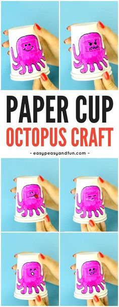 Paper Cup Octopus Emotions Craft for Kids