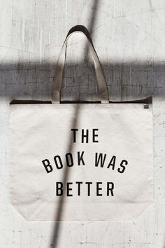 Urban Renewal Recycled The Book Was Better Tote Bag - Urban Outfitters Thing 1, Urban Renewal, Best Bags, Book Nerd, Book Worms, Book Lovers, The Book, Urban Outfitters, Reusable Tote Bags