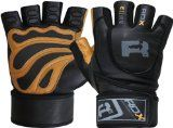 RDX Ultimate Weight Lifting Body Building Gloves Gym Fitness Training Straps-Large: fitness straps