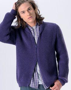 modele tricot gilet zippe homme