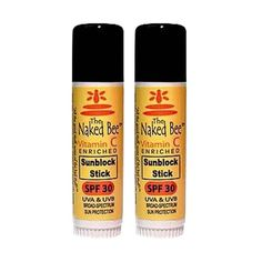 The Naked Bee Vitamin C Sunblock Stick SPF 30 2 Pack *** Want to know more, click on the image.