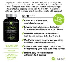 New It's Vital released Feb 1st by It Works Global!!!    #itworks #vitamin   contact me cheria.myitworks. com