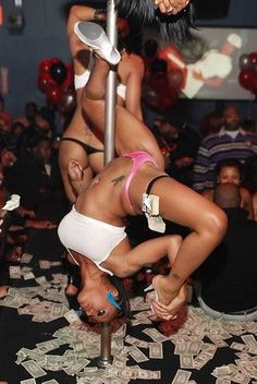 Pole Dancer Earning Her Money