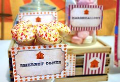 Vintage Circus Party Labels - INSTANT DOWNLOAD - Editable ...