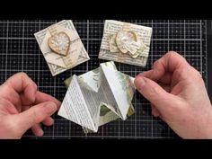 How To Make Origami Envelopes Origami Envelope, Envelope Box, Origami Cards, Paper Art, Paper Crafts, How To Make Origami, Christmas Origami, Pocket Cards, I Love Reading