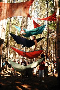 looks like Electric Forest Electric Forest, Adventure Awaits, Adventure Travel, Freetime Activities, Voyager C'est Vivre, Vw Camping, Camping Style, Camping Hammock, Camping Life