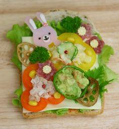 healthy rabbit toast