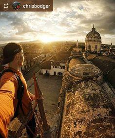 #Follow @chrisbodger: On the #rooftop La Merced #Church #Granada #Nicaragua #ILoveGranada #AmoGranada #Travel #gopro #goprotravel
