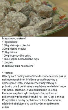 Masarykovo cukroví (Polopatě) Czech Recipes
