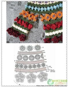 """""""MOSSITA BELLA haak patronen en afbeeldingen"""" Bloemen Blouse, Schattig !!! Crochet Blouse ..."""