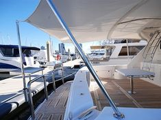 Euro awnings are a great way to add extra shade to the back of your boat. We custom fabricate all our stainless steel marine awnings, biminis and targa tops ensuring a perfect fit every time. Visit our website (link in bio) to find out more. Stainless Steel Fabrication, Yacht Design, Canopy, Perfect Fit, Southern, Boat, Website Link, Building, Euro