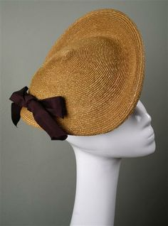 Hat by Prudence Millinery http://www.cockpitarts.com/designers/prudence-millinery  #millinery #strawhat #judithm A vintage style and so lovely