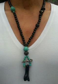 Necklaces Black Coral, Market, Hippy Market Ibiza