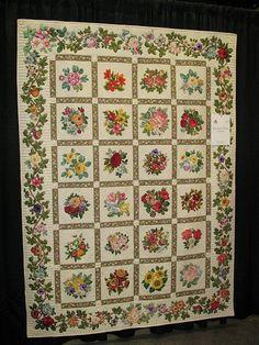 Broderie Perse Applique Quilt by quiltingqueensmn, via Flickr