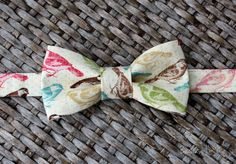 Mens Bow Tie  Terrific Going to the Birds Cotton by becauseimme