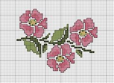 Free Cross Stitch Charts Pinterest | Cross Stitch Patterns > Floral > Wild Rose