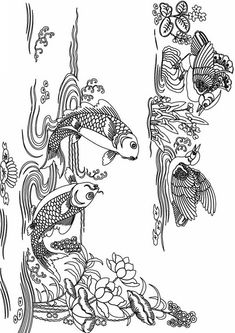 Printable Complicated Fish Coloring Pages For Adults