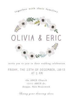 Rustic Floral Wedding Invitation Printable by Classicology, $15.00