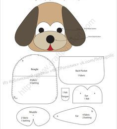 Free sewing pattern to make cute Beagle inspired Dog Key Pouch, Key Cozy, Key Holder. Template & detailed instructions includes step by step photos for easy understanding. # Sewing Patterns For Dogs Dog Key Pouch - Beagle Cute Beagles, Key Pouch, Key Covers, Sewing Hacks, Sewing Tips, Sewing Tutorials, Leftover Fabric, Love Sewing, Sewing Projects For Beginners