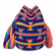 $90.00 Retail Price LARGE Mochila Wayuu Bag   RETAIL + WHOLESALE   Handmade and Fair Trade Wayuu Mochila Bags LOMBIA & CO.   www.LombiaAndCo.com