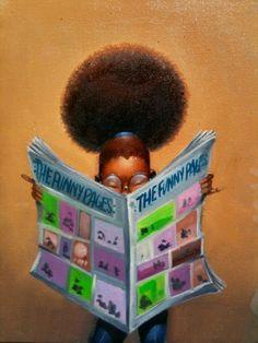 O Lobo Leitor: As pequenas leitoras de Frank Morrison
