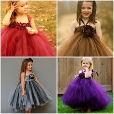 For the flowergirls - so cute - but obviously not in this bright of colour