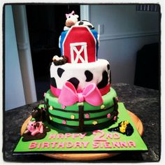 Farm Yard Girls Cake ~ Sugarlicious Cakes By Helen