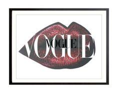 Vogue Gold Print Poster VoguePoster Brand Vogue von Stop4Design